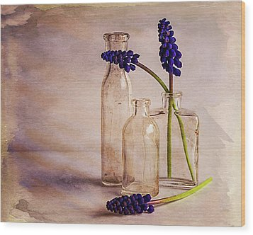 Wood Print featuring the photograph Purple by Mary Hone