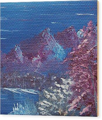 Purple Mountain Landscape Wood Print by Jera Sky
