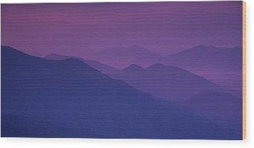 Purple Mountain Majesty Wood Print