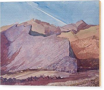 Purple Mountain Majesty Wood Print by Vaughan Davies