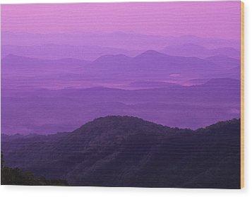 Purple Mountains Wood Print