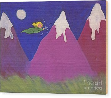Purple Mountains Majesty Wood Print by Christine Crosby