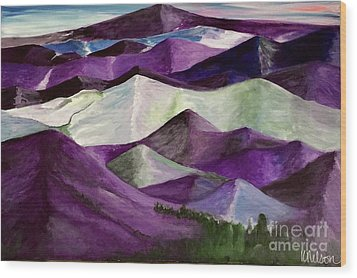 Wood Print featuring the painting Purple Mountains Majesty by Kim Nelson