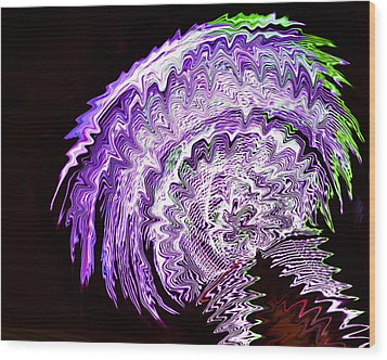 Wood Print featuring the photograph Purple Mushroom by Linda Constant