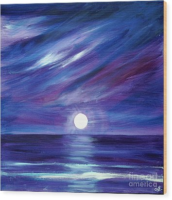 Purple Night Wood Print