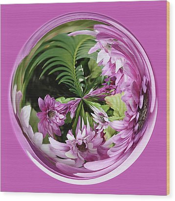 Purple Orb Wood Print by Bill Barber