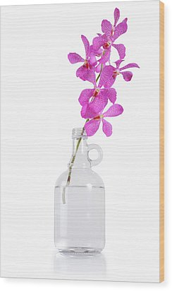 Purple Orchid Bunch Wood Print