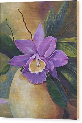 Purple Passion Orchid Wood Print