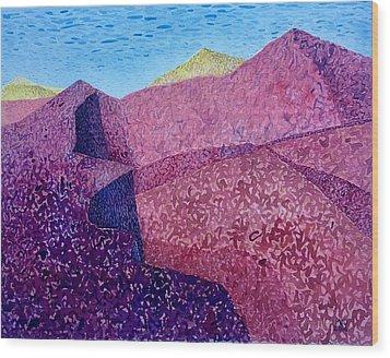 Purple Peak Wood Print by Vaughan Davies