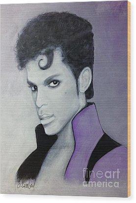Purple Prince Wood Print