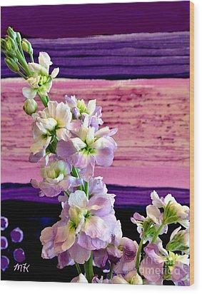 Wood Print featuring the photograph Purple Purple Everywhere by Marsha Heiken