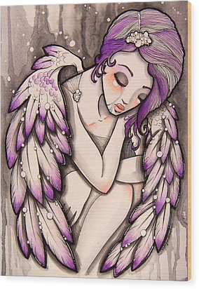 Purple Rain Wood Print by Margie Forestier