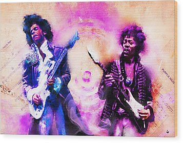 Purple Rain Meets Purple Haze Wood Print