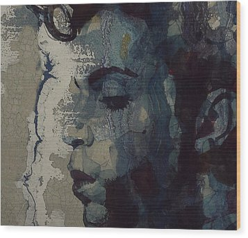 Wood Print featuring the mixed media Purple Rain - Prince by Paul Lovering