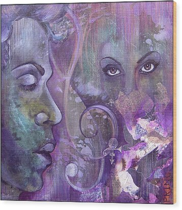 Purple Rain Wood Print by Shadia Derbyshire