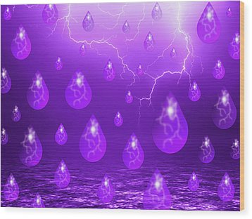 Wood Print featuring the photograph Purple Rain by Shane Bechler