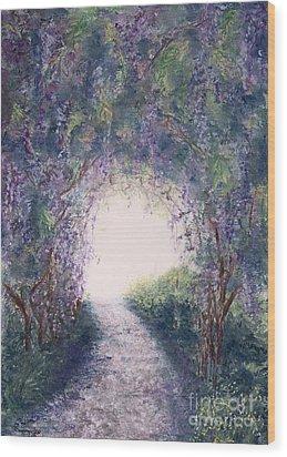 Purple Rain Wood Print by Stanza Widen