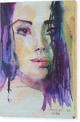Purple Rain Wood Print by Vicki Ross
