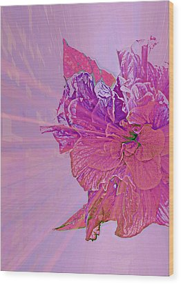 Purple Rays Of Happiness Wood Print