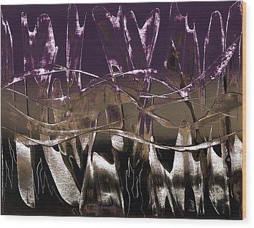 Purple Royale Wood Print