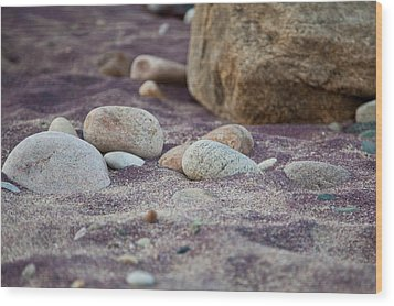 Purple Sand Wood Print
