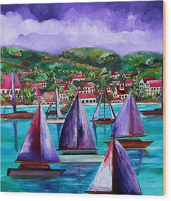Purple Skies Over St. John Wood Print by Patti Schermerhorn