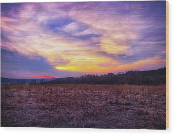 Purple Sunset At Retzer Nature Center Wood Print by Jennifer Rondinelli Reilly - Fine Art Photography