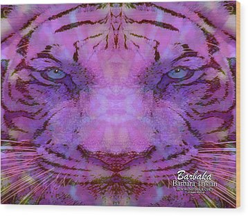 Wood Print featuring the photograph Purple Tiger by Barbara Tristan