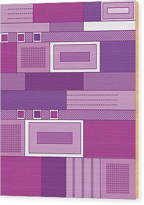 Purple Time Wood Print