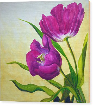 Purple Tulips Wood Print by Scott Gordon