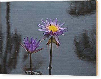 Purple Two-step Wood Print