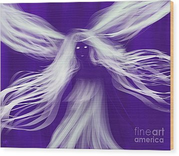 Purple Woods Faerie Wood Print