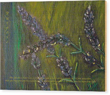 Wood Print featuring the painting Purpose by Dawn Harrell