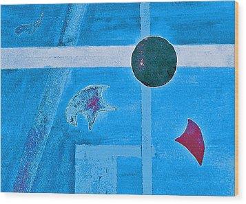 Purposphere Gone Blue Wood Print