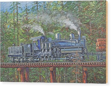 Pushin' Wood Print by Gary Symington