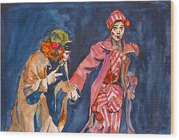 Wood Print featuring the painting Puttin On The Nose by P Maure Bausch