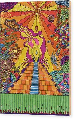 Pyramid Wood Print by Evan Purcell