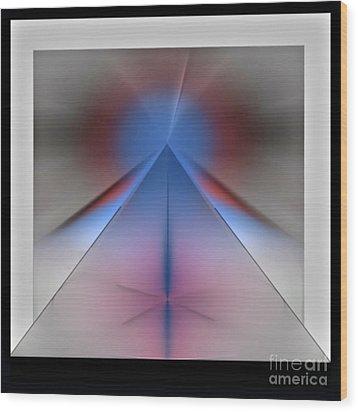 Wood Print featuring the digital art Pyramid by John Krakora