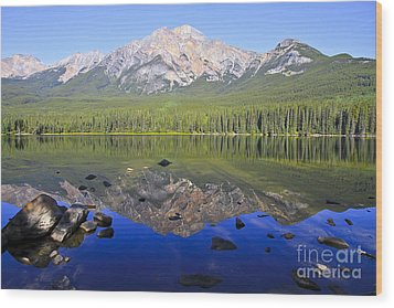Pyramid Lake Reflection Wood Print