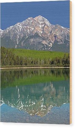 Pyramid Mountain Reflection Wood Print
