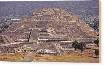 Pyramid Of The Sun - Teotihuacan Wood Print by Juergen Weiss