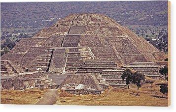 Pyramid Of The Sun - Teotihuacan Wood Print