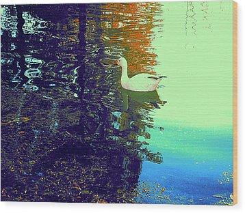 Quack Wood Print by Nancy Kane Chapman