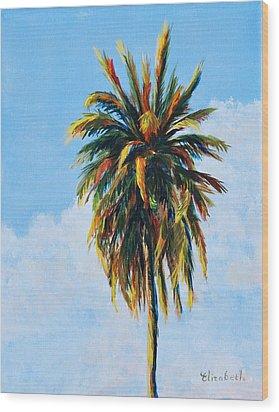 Quad Palms 4 Of 4 Wood Print by Beth Maddox