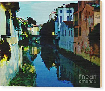 Wood Print featuring the photograph Quaint On The Canal by Roberta Byram