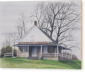 Quaker Meeting House Wood Print by Tom Dorsz