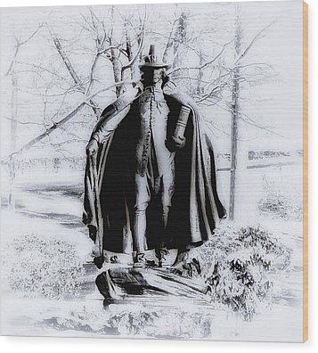 Quaker Pilgrim Wood Print by Bill Cannon