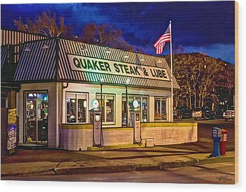 Quaker Steak And Lube Wood Print