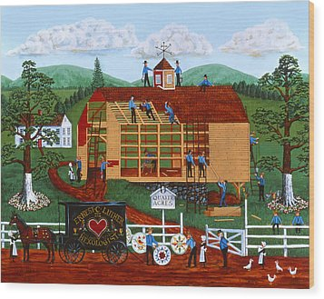 Quakers Acres Wood Print by Joseph Holodook