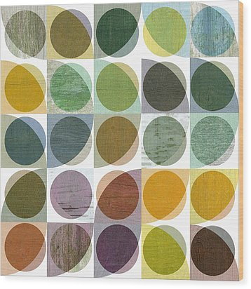 Quarter Circles Layer Project Two Wood Print by Michelle Calkins